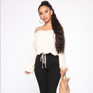 Fashion nova off the shoulder blouse